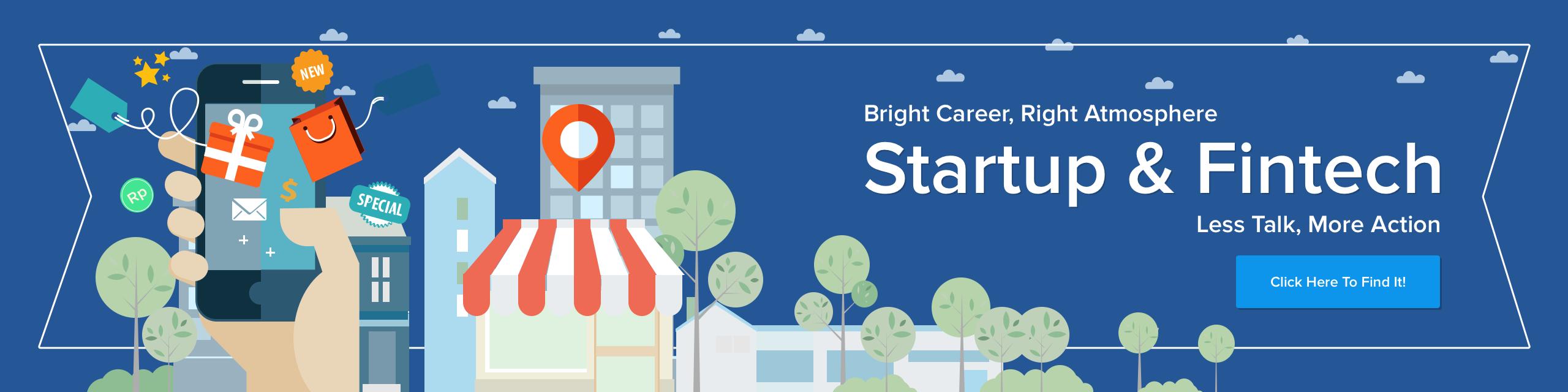 Banner startup fintech webpage